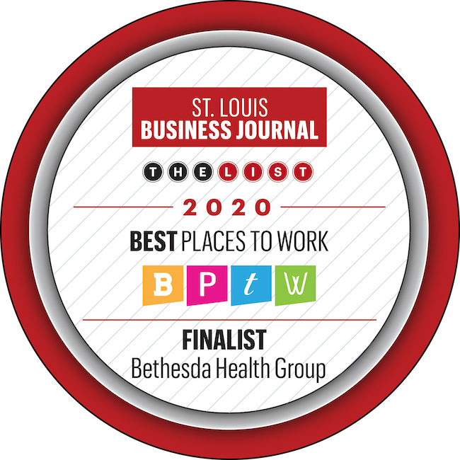 "Bethesda Health Group is a St. Louis Business Journal ""Best Places to Work"" Finalist in 2020."