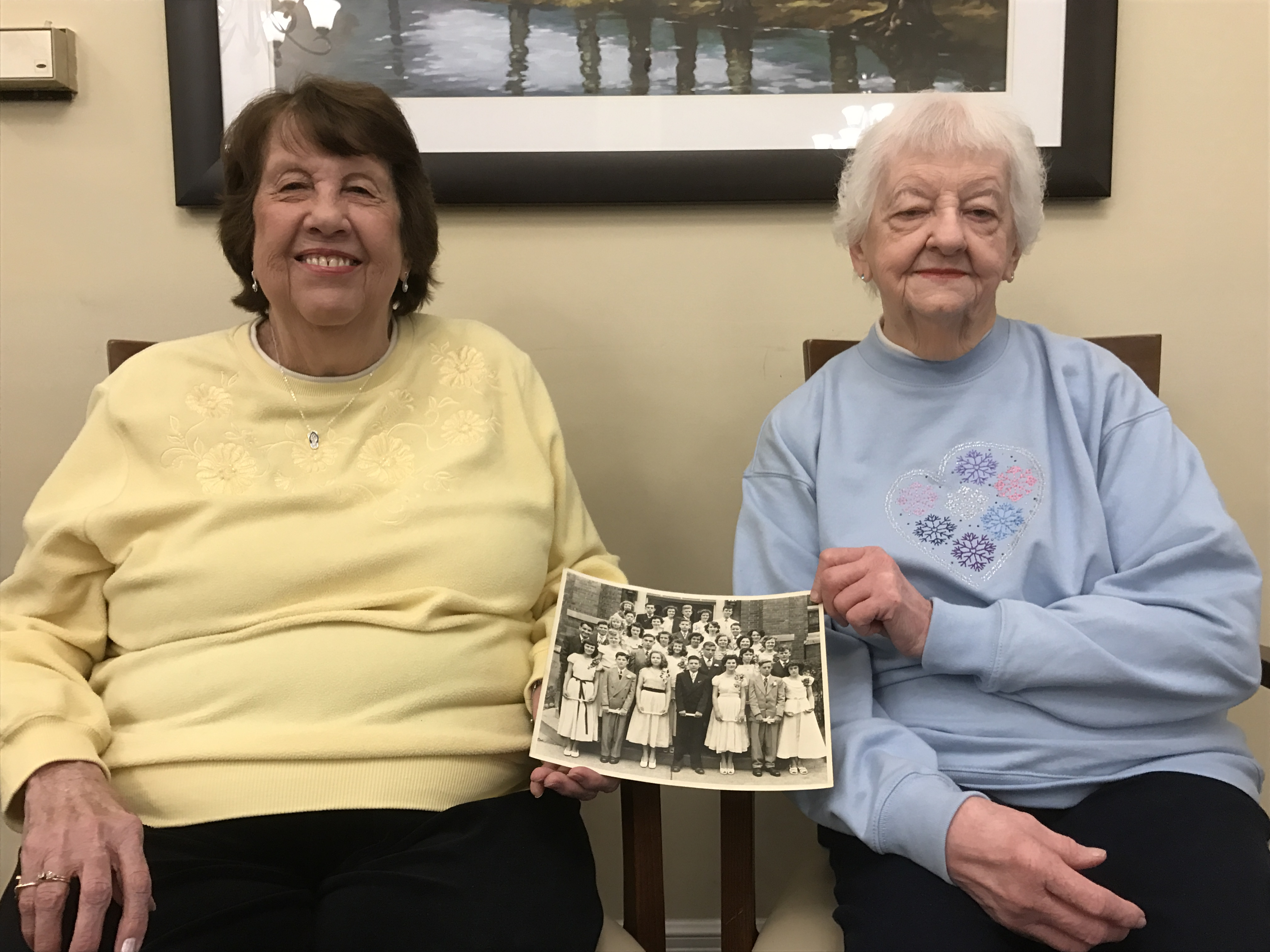 old friends reunited, Dorothy Boenker and Betty Valentine 2016