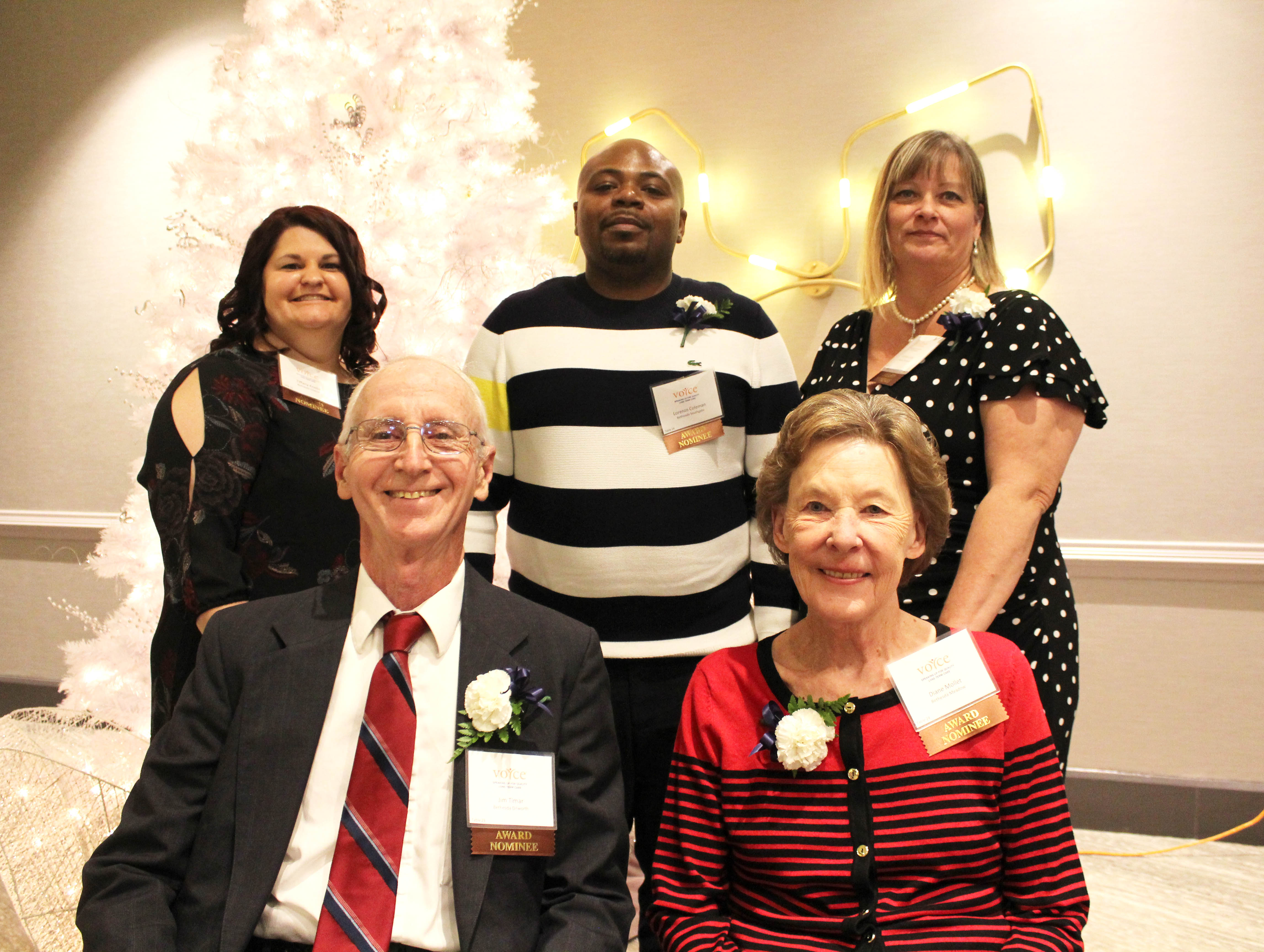 Bethesda's staff and volunteers that were nominated for the 2017 VOYCE Caregiver Awards.