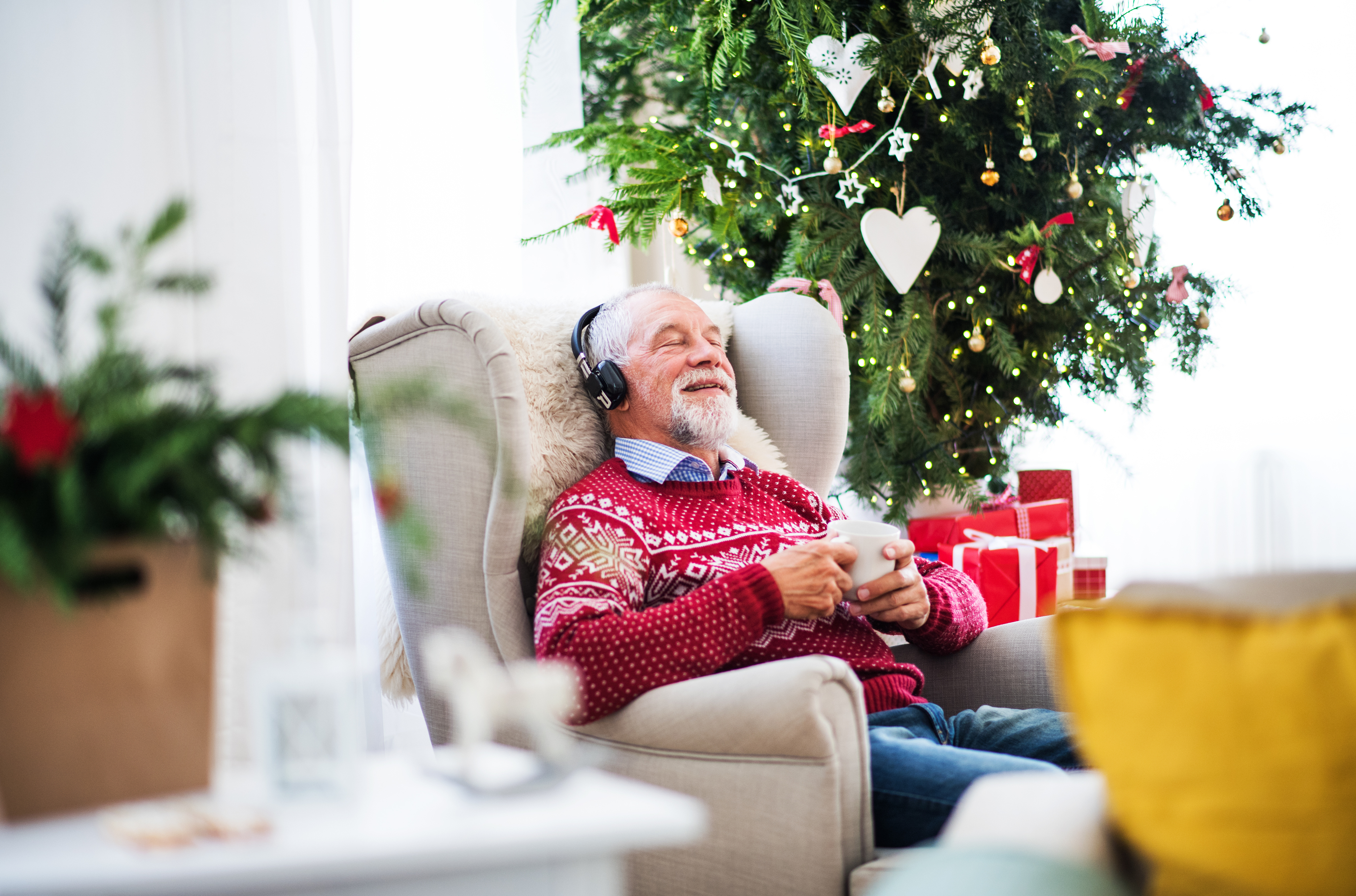 Holiday gifts for a senior with dementia can include music to help stimulate the mind may include music albums that they enjoyed throughout their life.