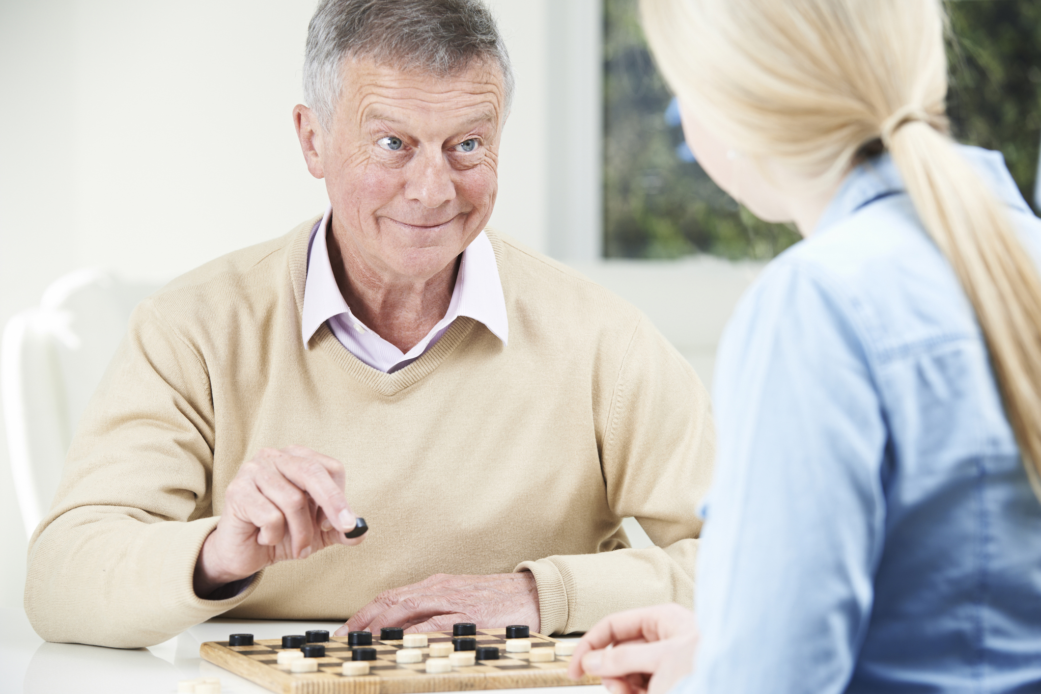 Checkers and other indoor activities can help pass the time