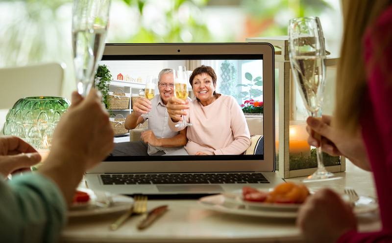 Celebrate the holidays with a virtual event with your loved ones.